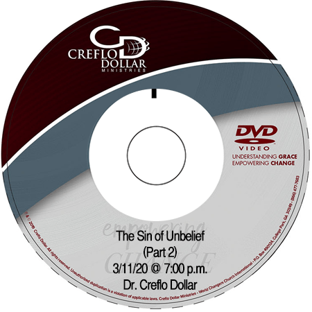 The Sin of Unbelief (Part 2) DVD