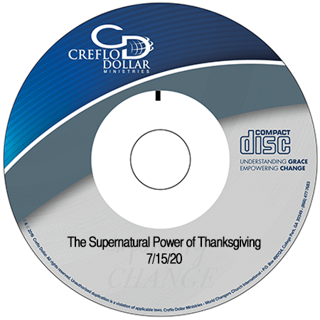The Supernatural Power of Thanksgiving single message